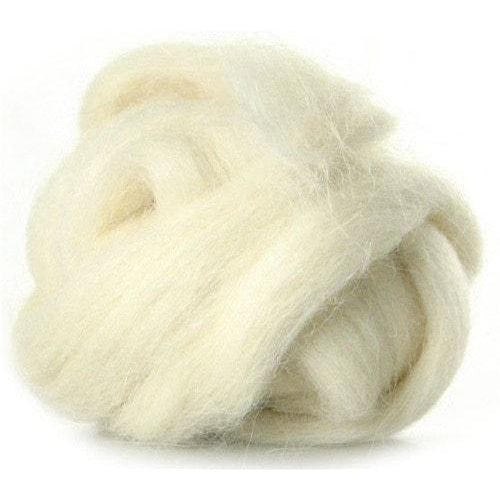 Louet Almost White Alpaca Top (1/2 lb bag)