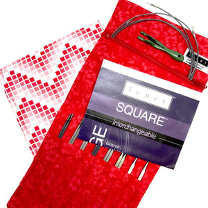 Louet Kollage Square Mini Interchangeable Knitting Needle Set-Interchangeable Needle Set-Paradise Fibers