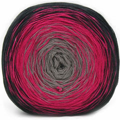 Trendsetter Yarns- Transitions Shawl Kit 5 Black/Fuchsia/Taupe - 8