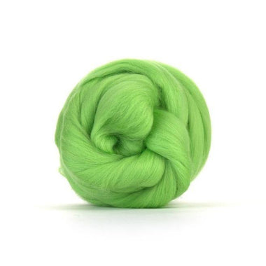 Paradise Fibers Solid Colored Merino Wool Top - Leaf