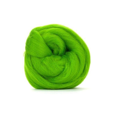 Paradise Fibers Solid Colored Merino Wool Top - Chartreuse