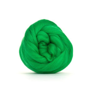Paradise Fibers Solid Colored Merino Wool Top - Emerald