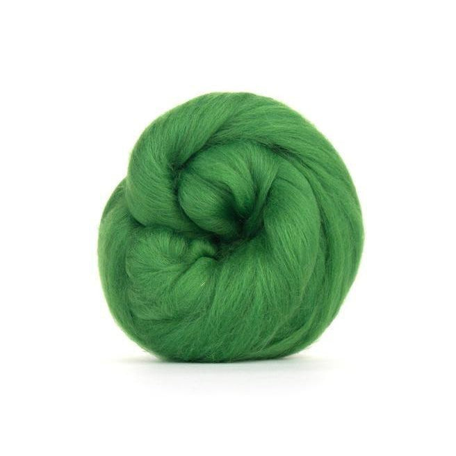 Paradise Fibers Solid Colored Merino Wool Top - Grass