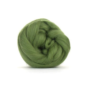 Paradise Fibers Solid Colored Merino Wool Top - Olive-Fiber-4oz-