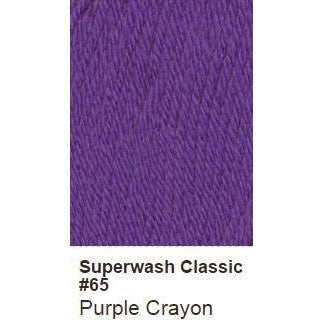 Ella Rae Superwash Classic Yarn - Solids Purple Crayon 65 - 44