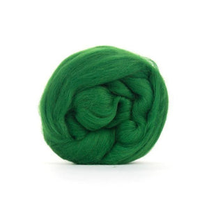 Paradise Fibers Solid Colored Merino Wool Top - Forest-Fiber-4oz-