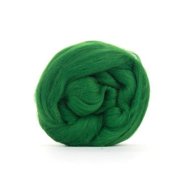 Paradise Fibers Solid Colored Merino Wool Top - Forest