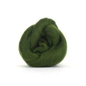 Paradise Fibers Solid Colored Merino Wool Top - Willow-Fiber-4oz-