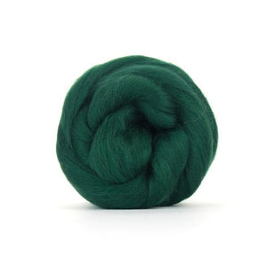 Paradise Fibers Solid Colored Merino Wool Top - Conifer-Fiber-4oz-