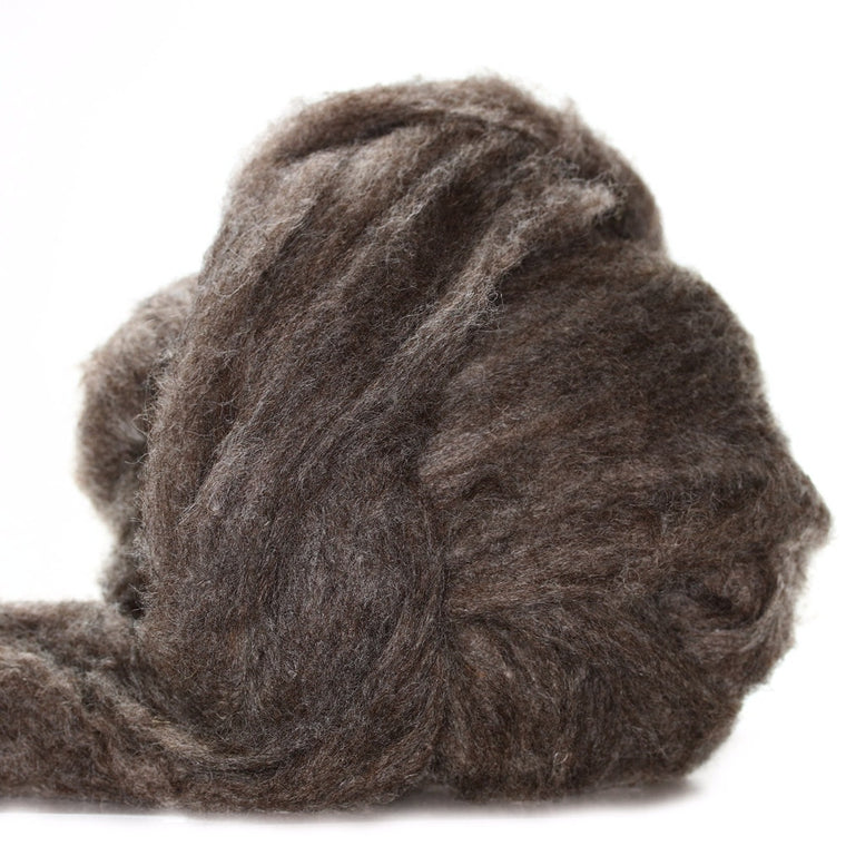 Louet Medium Brown Coopworth Fiber (1/2 lb bag)