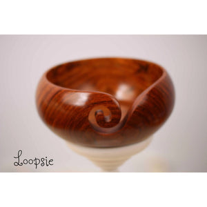 Paradise Fibers Artisan Wooden Yarn Bowls-Knitting Accessory-Loopsie-