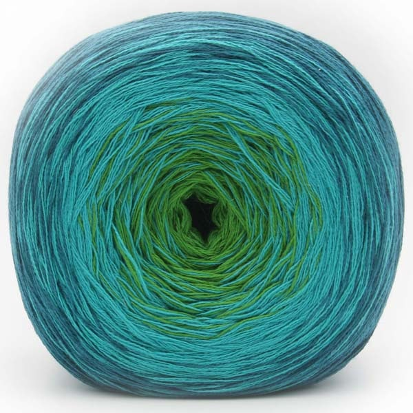 Trendsetter Yarns- Transitions Shawl Kit 6 Teal/Turq/Lime - 9
