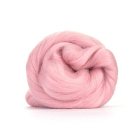 Paradise Fibers Solid Colored Merino Wool Top - Candy Floss