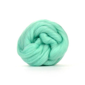Paradise Fibers Solid Colored Merino Wool Top - Aqua
