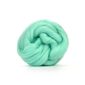 Paradise Fibers Solid Colored Merino Wool Top - Aqua-Fiber-4oz-