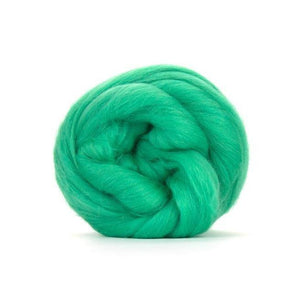 Paradise Fibers Solid Colored Merino Wool Top - Mint-Fiber-4oz-