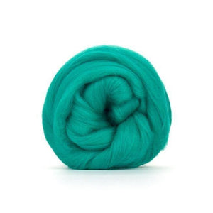 Paradise Fibers Solid Colored Merino Wool Top - Jade-Fiber-4oz-