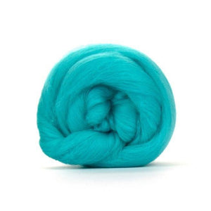 Paradise Fibers Solid Colored Merino Wool Top - Spearmint-Fiber-4oz-