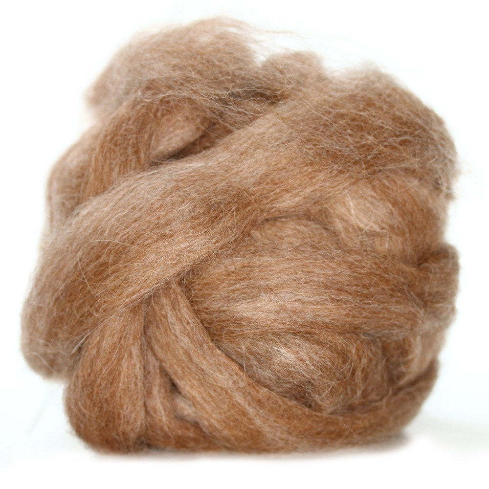 Foothills Brown Heather Suri Alpaca/ Merino Blend (4 oz bag)