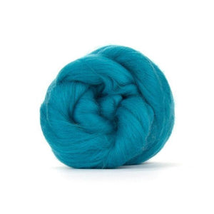 Paradise Fibers Solid Colored Merino Wool Top - Cerulean