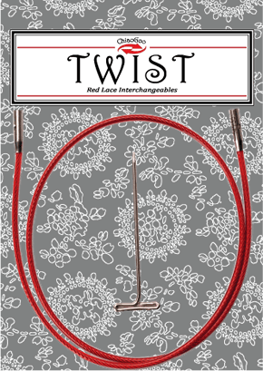 "ChiaoGoo TWIST Interchangeable Cables - Mini Sizes-Knitting Needles-14""-"