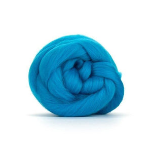 Paradise Fibers Solid Colored Merino Wool Top - Turquoise-Fiber-4oz-