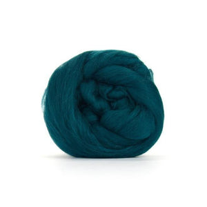 Paradise Fibers Solid Colored Merino Wool Top - Mallard-Fiber-4oz-