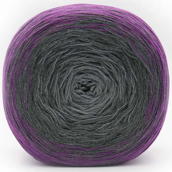 Trendsetter Yarns- Transitions Shawl Kit 7 Purple/Charcoal/Pearl - 10
