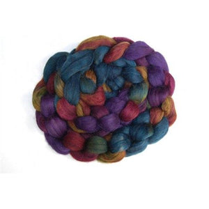 Abstract Fiber Yak Merino Blend - Chocolate Rainbow 4 oz. Braid-Fiber-