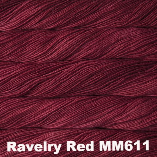 Malabrigo Worsted Yarn Semi-Solids Ravelry Red MM611 - 10