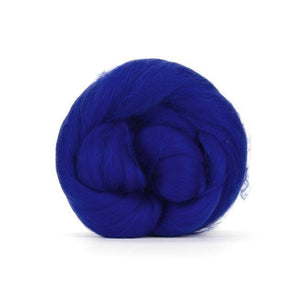 Paradise Fibers Solid Colored Merino Wool Top - Sapphire