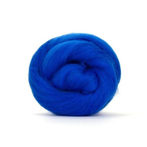 Paradise Fibers Solid Colored Merino Wool Top - Royal