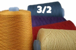 3/2 Mercerized Perle Cotton-Weaving Cones-Special Navy 39-