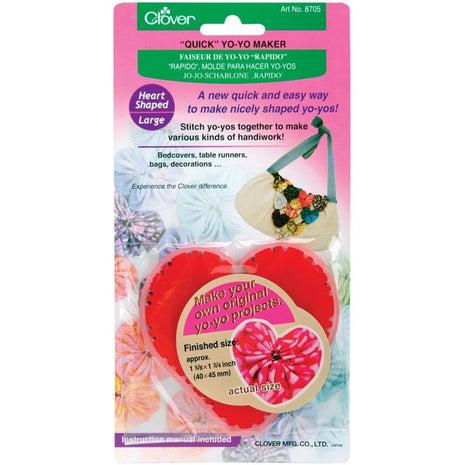 Clover Quick Yo-Yo Maker - Heart-Notions-Clover-Paradise Fibers