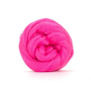 Paradise Fibers Solid Colored Merino Wool Top - Barbie