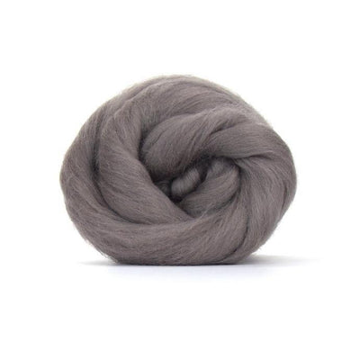 Paradise Fibers Solid Colored Merino Wool Top - Pewter