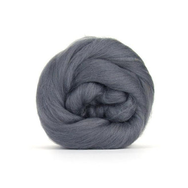 Paradise Fibers Solid Colored Merino Wool Top - Granite