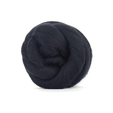 Paradise Fibers Solid Colored Merino Wool Top - Charcoal