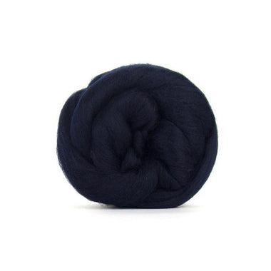 Paradise Fibers Solid Colored Merino Wool Top - Midnight