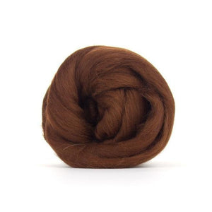 Paradise Fibers Solid Colored Merino Wool Top - Hazelnut-Fiber-4oz-