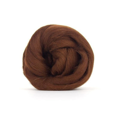Paradise Fibers Solid Colored Merino Wool Top - Hazelnut