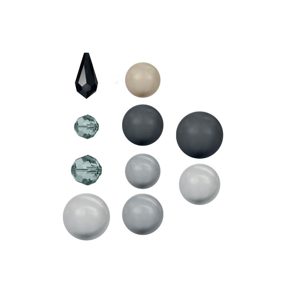 Swarovski & Rowan Create Your Own Style Classic Crystal Beads 8-16mm Mixed / Black Pearl - 12