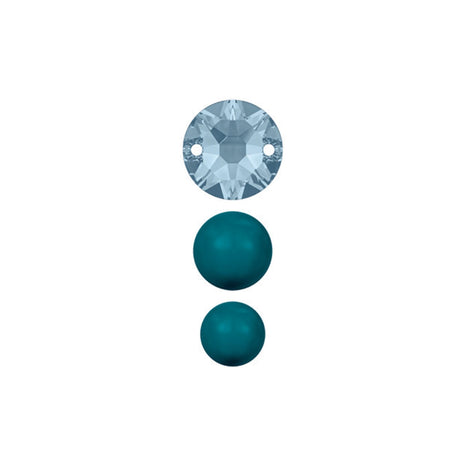 Swarovski & Rowan Create Your Own Style Classic Crystal Beads 8-12mm Mixed / Petrol - 13