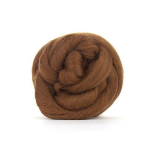 Paradise Fibers Solid Colored Merino Wool Top - Chocolate-Fiber-4oz-