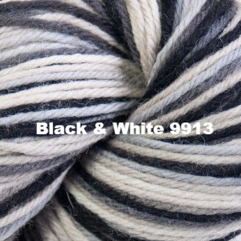 Cascade 220 Superwash Paints Yarn Black & White 9913 - 10