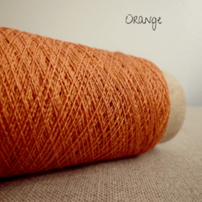 Habu Textiles A-20 Silk Stainless Orange 15 - 8