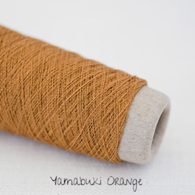Habu Textiles A-20 Silk Stainless Yamabuki Orange 7 - 5