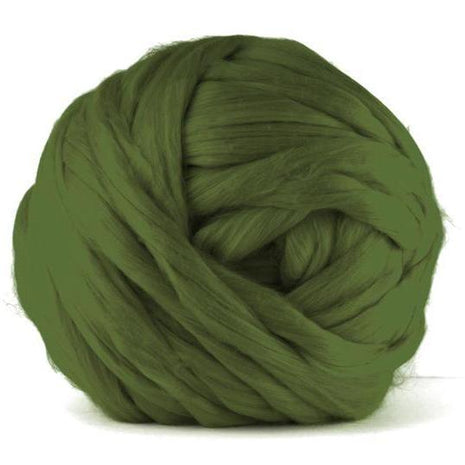 Paradise Fibers Acrylic Jumbo Yarn - Olive - 7lb Special for Arm Knitted Blankets (VEGAN)
