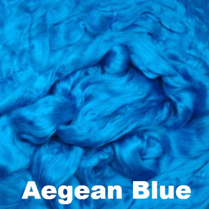 Ashland Bay Dyed Bamboo Top Fiber 4oz / Aegean Blue - 2