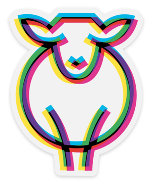 Paradise Fibers Sheep Stickers-Stickers-Andewe Warhol-
